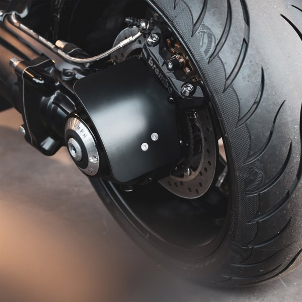 A picture of a Triumph Rocket 3 Number plate on a motorbike